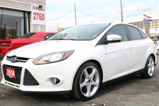 Used 2014 Ford Focus Titanium Navigation. Leather. Roof. Camera. Clean for sale in Toronto, ON