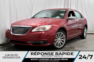 Used 2012 Chrysler 200 LIMITED + V6 + TOIT + CUIRE + ÉCRANS 6,5 for sale in Laval, QC