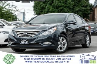 Used 2013 Hyundai Sonata LIMITED LEATHER SUNROOF ACCIDENT FREE CERTIFIED for sale in Bolton, ON