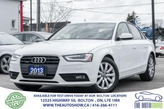 Used 2013 Audi A4 2.0T AWD QUATTRO LEATHER SUNROOF CERTIFIED CLEAN for sale in Bolton, ON