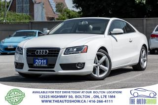 Used 2011 Audi A5 2.0L 6 speed Quattro Low K Certified No Accidents for sale in Bolton, ON
