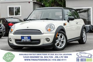 Used 2012 MINI Cooper 6 Spd Manual Leather Sunroof Certified No accident for sale in Bolton, ON