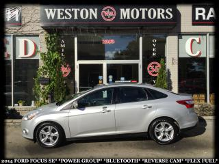 Used 2014 Ford Focus SE*PWR GROUP*BTOOTH*REVERSE CAM*FLEX FUEL* for sale in Toronto, ON