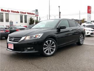 Used 2015 Honda Accord Sedan Sport  - Rear Camera - Heated Seats - Lip Spoiler for sale in Mississauga, ON