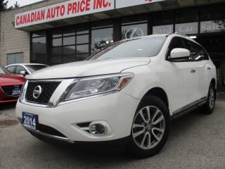 Used 2014 Nissan Pathfinder SL-AWD-LTHER-CAMERA-7 PASS-BLUETOOTH-HEATES SEAT for sale in Scarborough, ON