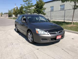 Used 2007 Honda Accord Sunroof , 4 door, 3 Years Warranty Available for sale in Toronto, ON
