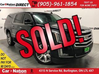 Used 2018 Cadillac Escalade ESV Luxury| DVD| SUNROOF| NAVI| for sale in Burlington, ON