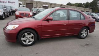 Used 2005 Honda Civic EX 4DR SEDAN AUTOMATIC ALLOYS CERTIFIED 2YR WARRANTY SUNROOF for sale in Milton, ON