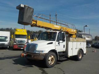 Used 2002 International 4300 Bucket Truck Diesel with Generator and Air Brakes for sale in Burnaby, BC