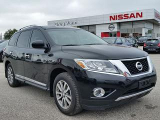 Used 2014 Nissan Pathfinder SL 4WD w/all leather,NAV,3rd row seating,climate control,rear cam,front-rear heated seats for sale in Cambridge, ON