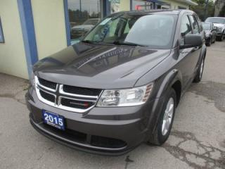 Used 2015 Dodge Journey FUEL EFFICIENT SE MODEL 5 PASSENGER 2.4L - DOHC.. TOUCH SCREEN.. CD/AUX/USB INPUT.. KEYLESS ENTRY & START.. for sale in Bradford, ON