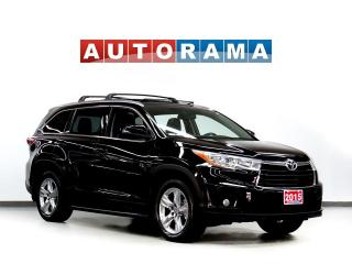 Used 2015 Toyota Highlander LIMITED NAVI LEATHER SUNROOF 7 PASS 4WD BACKUP CAM for sale in Toronto, ON