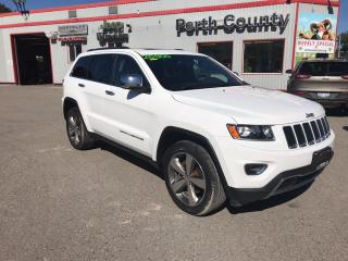 Used 2015 Jeep Grand Cherokee Limited ** Local trade in, Sunroof, Leather ** for sale in Mitchell, ON