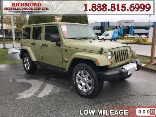 Used 2013 Jeep Wrangler Unlimited Sahara for sale in Richmond, BC