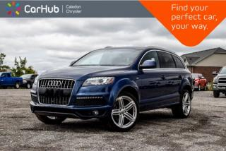 Used 2013 Audi Q7 3.0L Sport|7 Seater|Navi|Pano Sunroof|Bluetooth|Backup Cam|Leather|Heated Seats|21