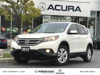 Used 2012 Honda CR-V EX-L 4WD at - Power Moonroof   Heated Seats for sale in Markham, ON