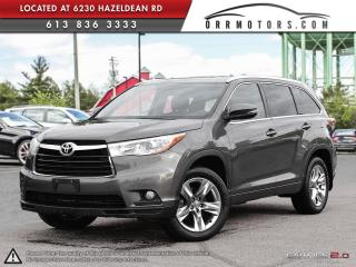 Used 2015 Toyota Highlander Limited Platinum AWD V6 for sale in Ottawa, ON