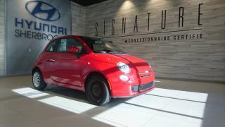 Used 2012 Fiat 500 BAS KILO! POP+MANUELLE+GROUPE ÉLECTRIQUE for sale in Sherbrooke, QC