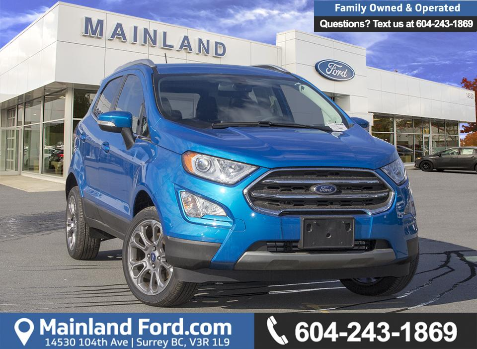 Build And Price Your New Ford Car Or Truck Mainland Ford >> Used 2018 Ford Ecosport Titanium 4wd 400a For Sale In Surrey