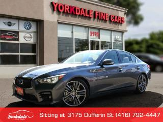 Used 2014 Infiniti Q50 Sport Navigation. Leather. Roof. Lane Deaprture for sale in Toronto, ON