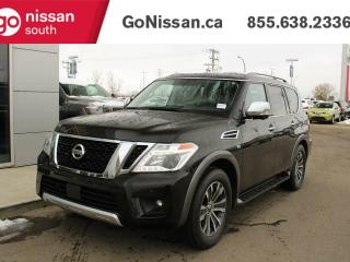 Used 2018 Nissan Armada SL: LEATHER, 4X4, HEATED SEATS, HEATED STEERING WHEEL, NAVIGATION, VERY LOW KMS!! for sale in Edmonton, AB
