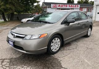 Used 2007 Honda Civic Certified/Automatic/Accident Free/Gas Saver for sale in Scarborough, ON