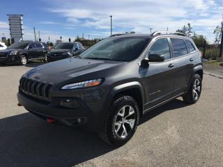 Used 2017 Jeep Cherokee Trailhawk * AWD * LEATHER/CLOTH * NAV * Rear CAM * Heated Seats * Pano Roof * Power Rear Hatch * LOW for sale in London, ON