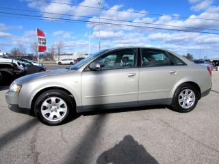 Used 2002 Audi A4 1.8T Quattro LEATHER SUNROOF AUTO *ACCIDENT FREE* for sale in Milton, ON