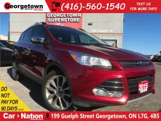 Used 2015 Ford Escape SE | CLEAN CARPROOF | NAVI | BU CAM | PANO ROOF for sale in Georgetown, ON
