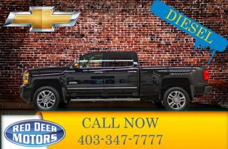 Used 2017 Chevrolet Silverado 2500 HD 4x4 Crew Cab High Country Diesel Leather Roof Nav for sale in Red Deer, AB