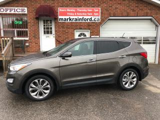 Used 2013 Hyundai Santa Fe Limited AWD Leather Pano Roof Nav BT Rear Camera for sale in Bowmanville, ON
