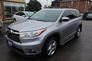 Used 2015 Toyota Highlander Hybrid LIMITED for sale in Brampton, ON
