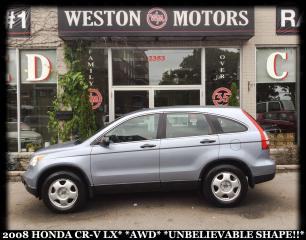 Used 2008 Honda CR-V LX*AWD*UNBELIEVABLE SHAPE!!* for sale in Toronto, ON