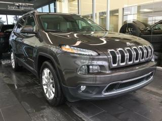 Used 2015 Jeep Cherokee LIMIITED, HEATED/COOLED SEATS, REMOTE SATART for sale in Edmonton, AB