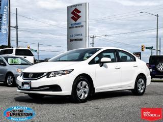 Used 2015 Honda Civic SEDAN LX for sale in Barrie, ON