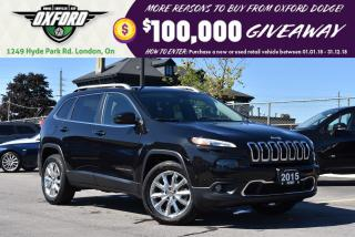 Used 2015 Jeep Cherokee Limited - one owner, dealer serviced, GPS, heated for sale in London, ON