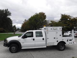 Used 2007 Ford F-550 Crew Cab Flat Deck Service Box Dually Diesel 4WD for sale in Burnaby, BC