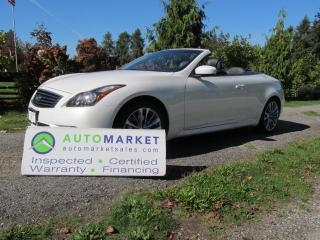 Used 2011 Infiniti G37 S, CABRIOLET, INSPECTED, WARRANTY & FINANCING for sale in Surrey, BC