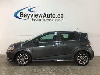 Used 2018 Chevrolet Sonic - TURBO! ALLOYS! REM START! HTD SEATS! WIFI! for sale in Belleville, ON