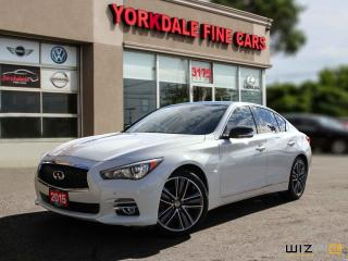 Used 2015 Infiniti Q50 Limited, Navigation, Camera, Roof, No Accidents for sale in Toronto, ON