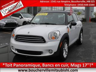 Used 2013 MINI Cooper Countryman Cuir, T.ouvrant for sale in Boucherville, QC