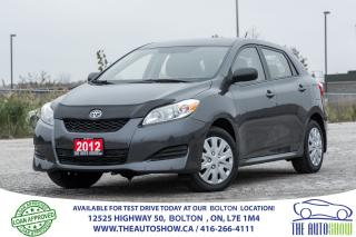 Used 2012 Toyota Matrix No Accidents Remote Start New Tires Certified Auto for sale in Bolton, ON