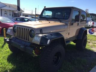 Used 2000 Jeep Wrangler TJ SPORT * 4WD * MANUAL * HARD TOP for sale in London, ON