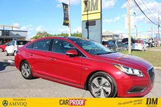Used 2016 Hyundai Sonata Hybride Ltd Cuir Tôit Pano for sale in Salaberry-de-Valleyfield, QC