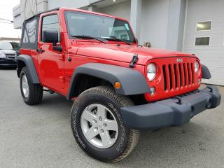 Used 2017 Jeep Wrangler 2 portes Sport 4x4 toit souple for sale in St-Malachie, QC