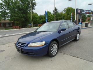Used 2002 Honda Accord LX AUTO & AIR for sale in King City, ON