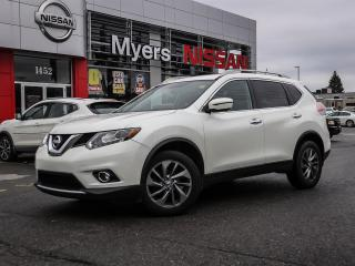 Used 2016 Nissan Rogue SL AWD leather, reverse camera, navigation, moonroof, heated seats, lumbar support, electric seats, CD. Bluetooth, intelligent key, tilt steering for sale in Orleans, ON