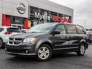 Used 2017 Dodge Caravan Crew leather, power lcoks, reverse camera, navigation, heated seats and steering wheel, DVD, electric seats, CD, Bluetooth for sale in Orleans, ON