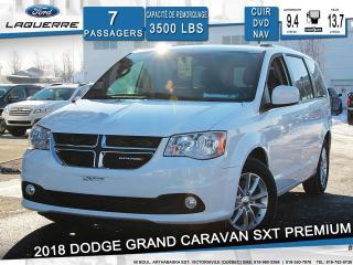 Used 2018 Dodge Grand Caravan Sxt Premium Nav Cam for sale in Victoriaville, QC