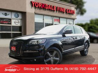 Used 2015 Audi Q7 3.0 TDI Progressiv S Line. 7 Passengers. Navigation. 360 Camera. Panoramic Roof for sale in Toronto, ON